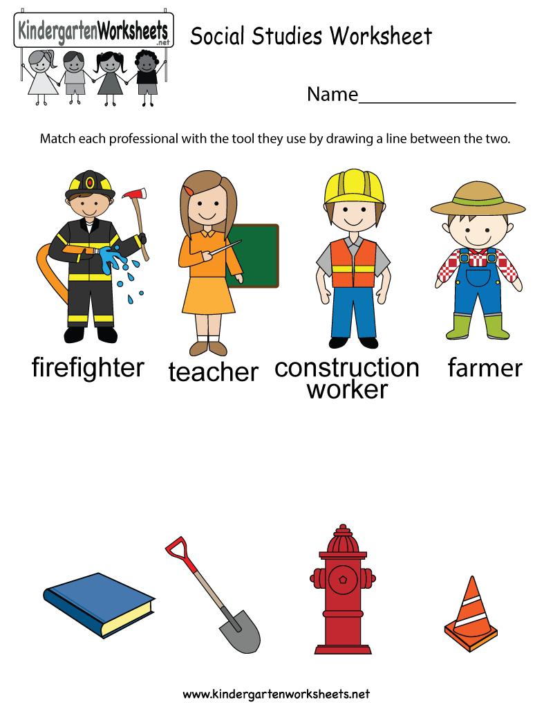 Social Studies Worksheet - Free Kindergarten Learning Worksheet For Kids - Free Printable Social Studies Worksheets