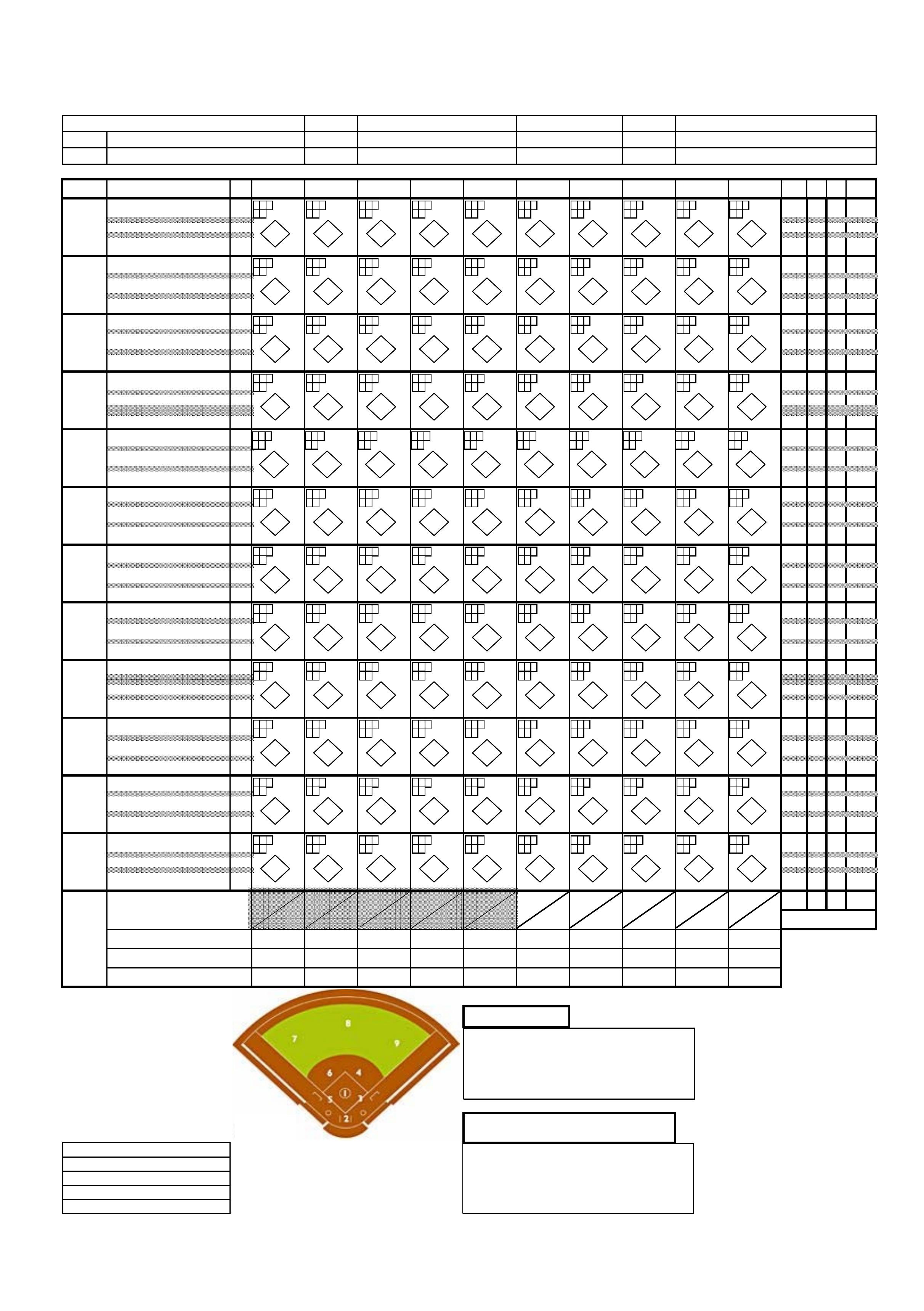 Softball Score Sheet Example Free Download - Free Printable Softball Stat Sheets