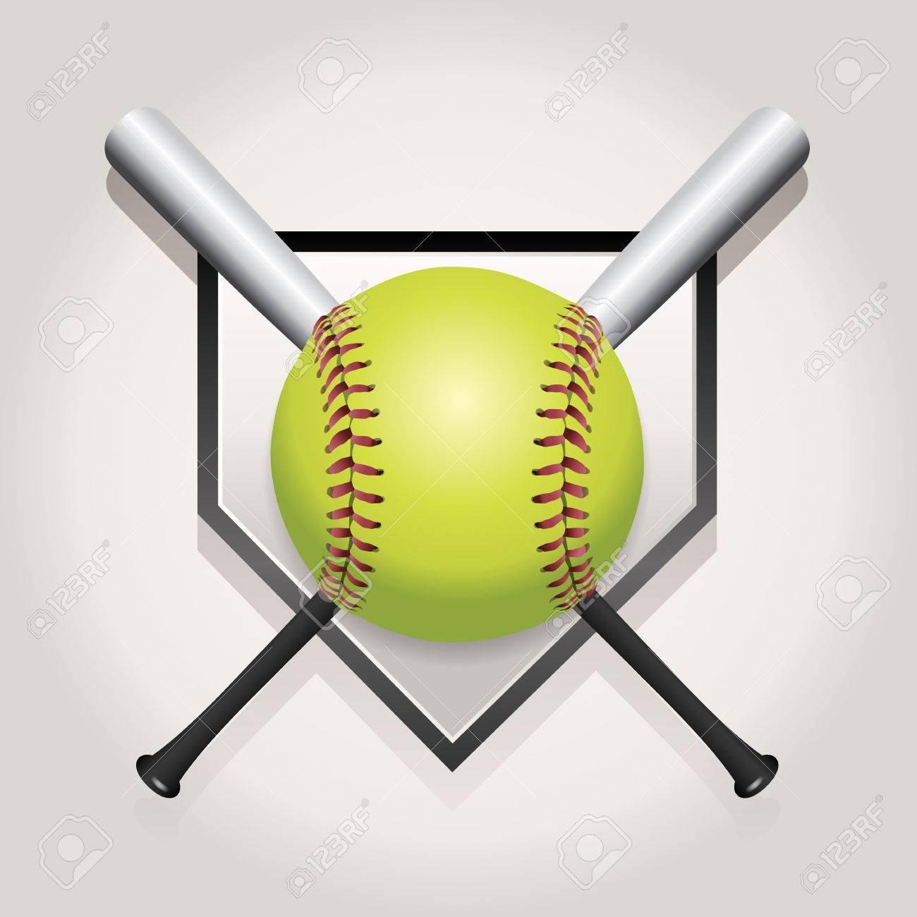 Softball Stock Photos And Images - 123Rf - Free Printable Softball Images