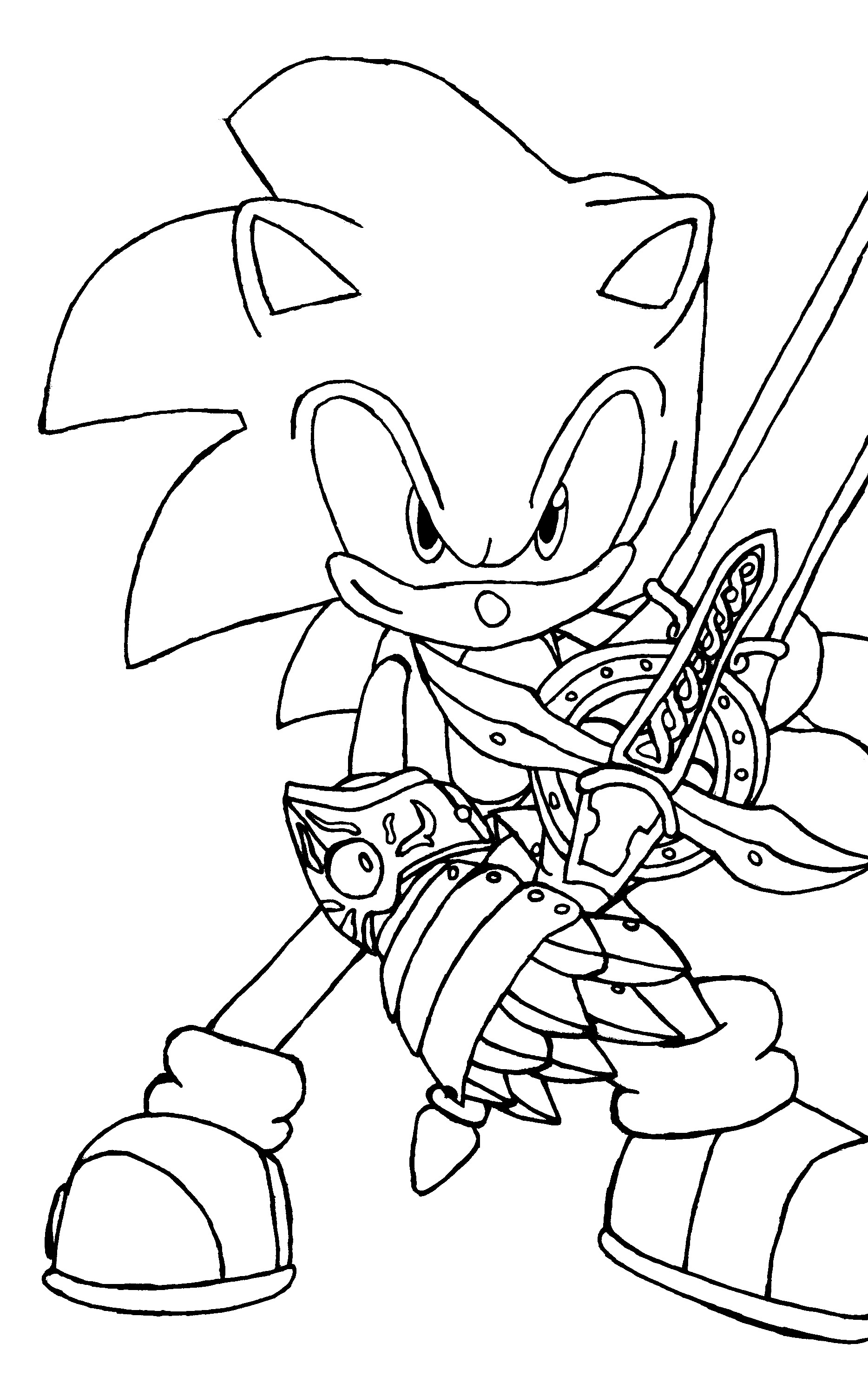 Sonic Coloring Pages Online For Free - Coloring Home - Sonic Coloring Pages Free Printable