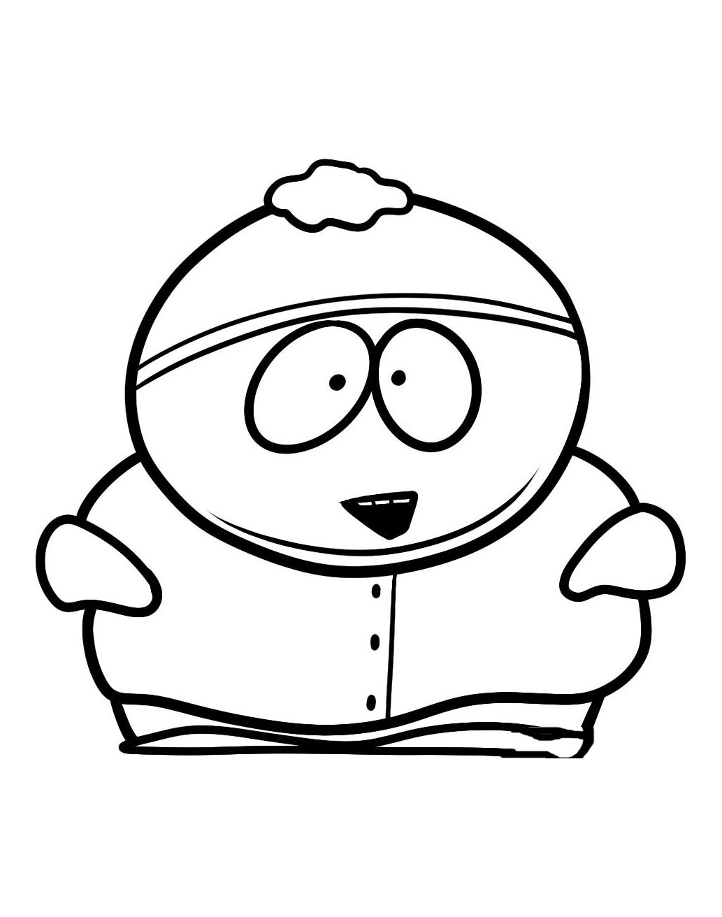 South Park For Children - South Park Kids Coloring Pages - Free Printable South Park Coloring Pages
