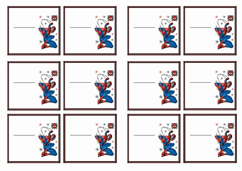 Spiderman Name Tags – Birthday Printable   Spiderman   Birthday Tags - Superhero Name Tags Free Printable