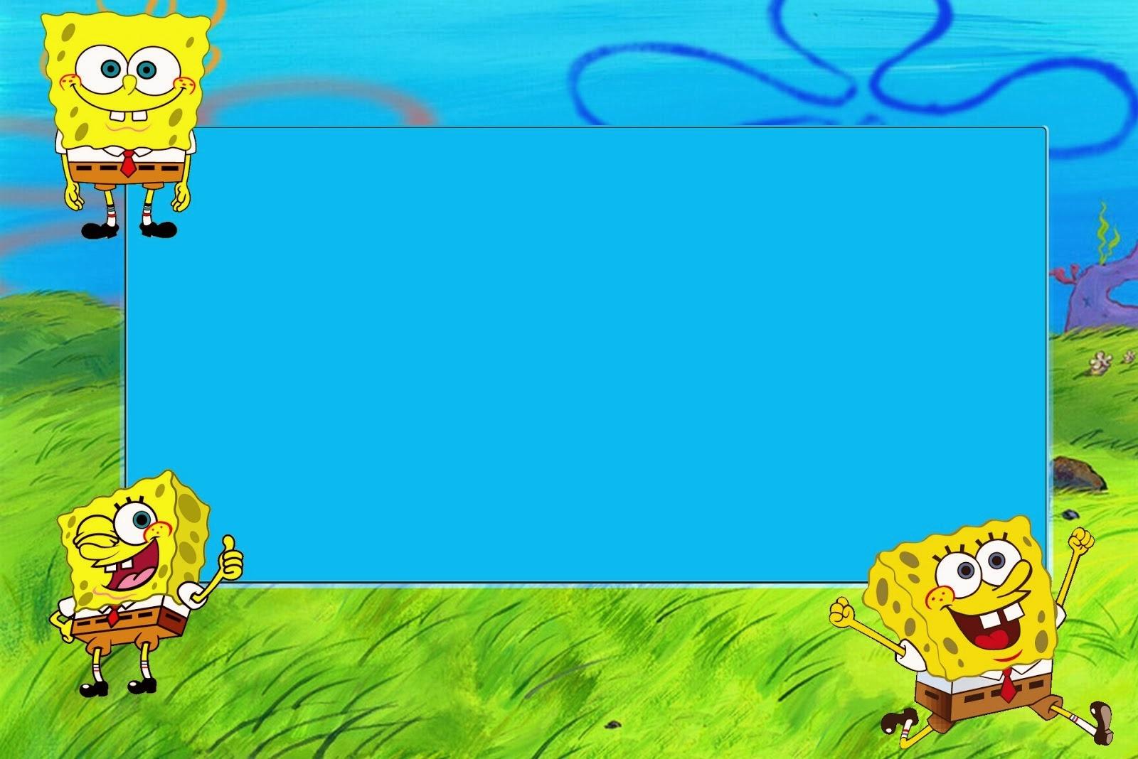 Spongebob Squarepants: Free Printable Cards And Invitations. - Oh My - Spongebob Free Printable Invitations