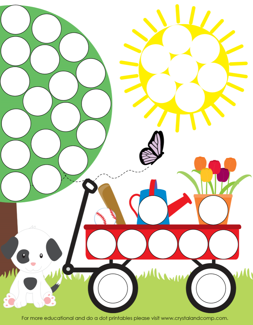 Spring Do A Dot Printables For Preschoolers   Travel Road Trip Ideas - Do A Dot Art Pages Free Printable
