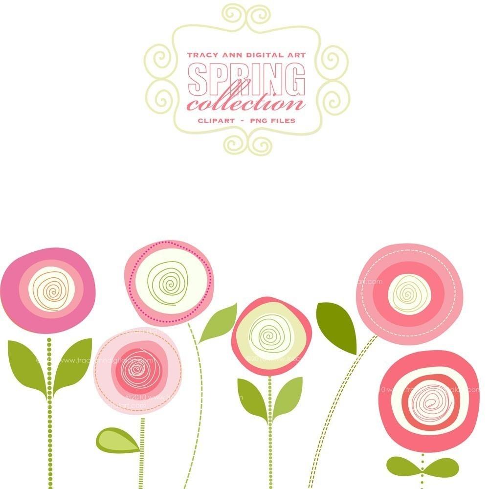 Spring Flowers Clip Art Free Printable 7 - Cliparting - Free Printable Clip Art Flowers