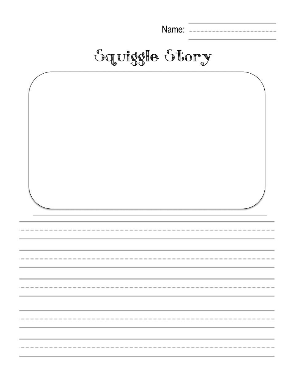 Squiggle Story 1.pdf | All The Kindergarten Writing Ideas I Want To - Free Squiggle Story Printable