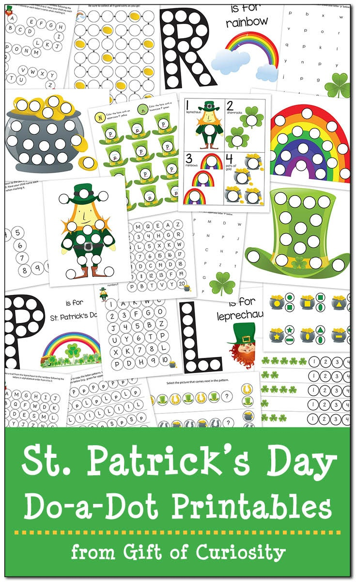 St. Patrick's Day Do-A-Dot Printables {Free} - Gift Of Curiosity - Free Printable St Patrick Day Worksheets