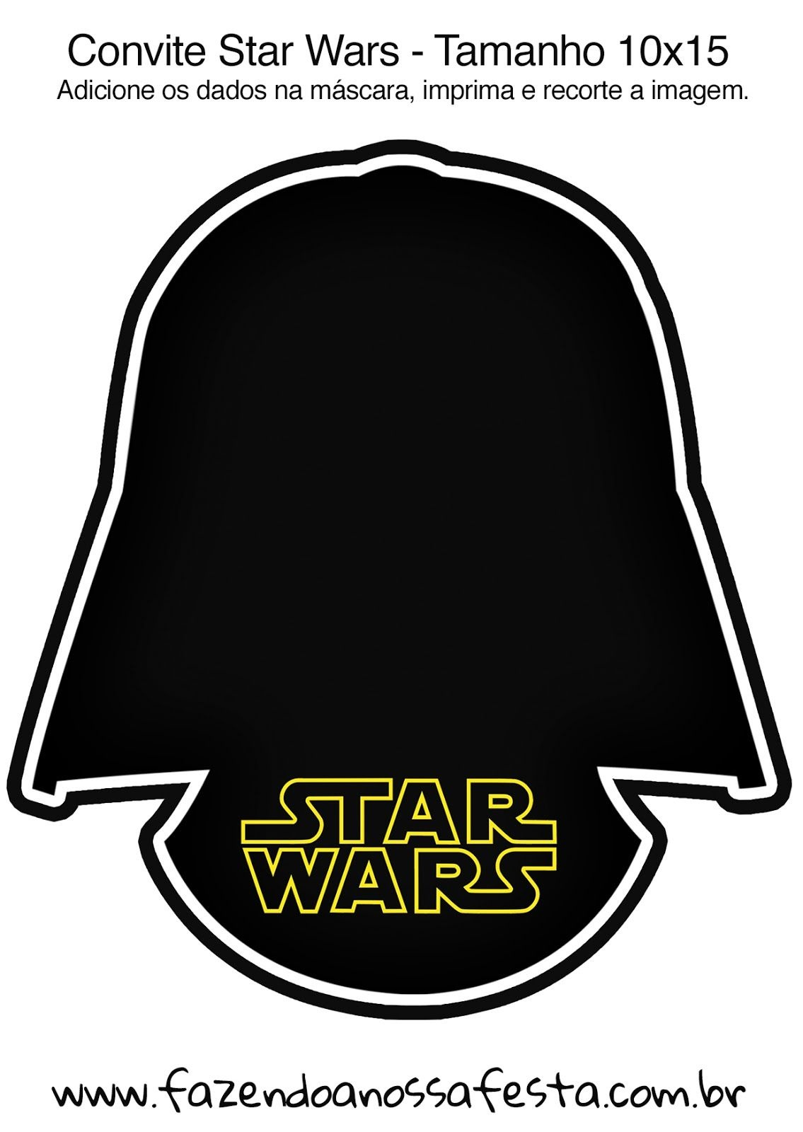 Star Wars: Free Printable Invitations. | Star Wars Party | Star Wars - Star Wars Invitations Free Printable