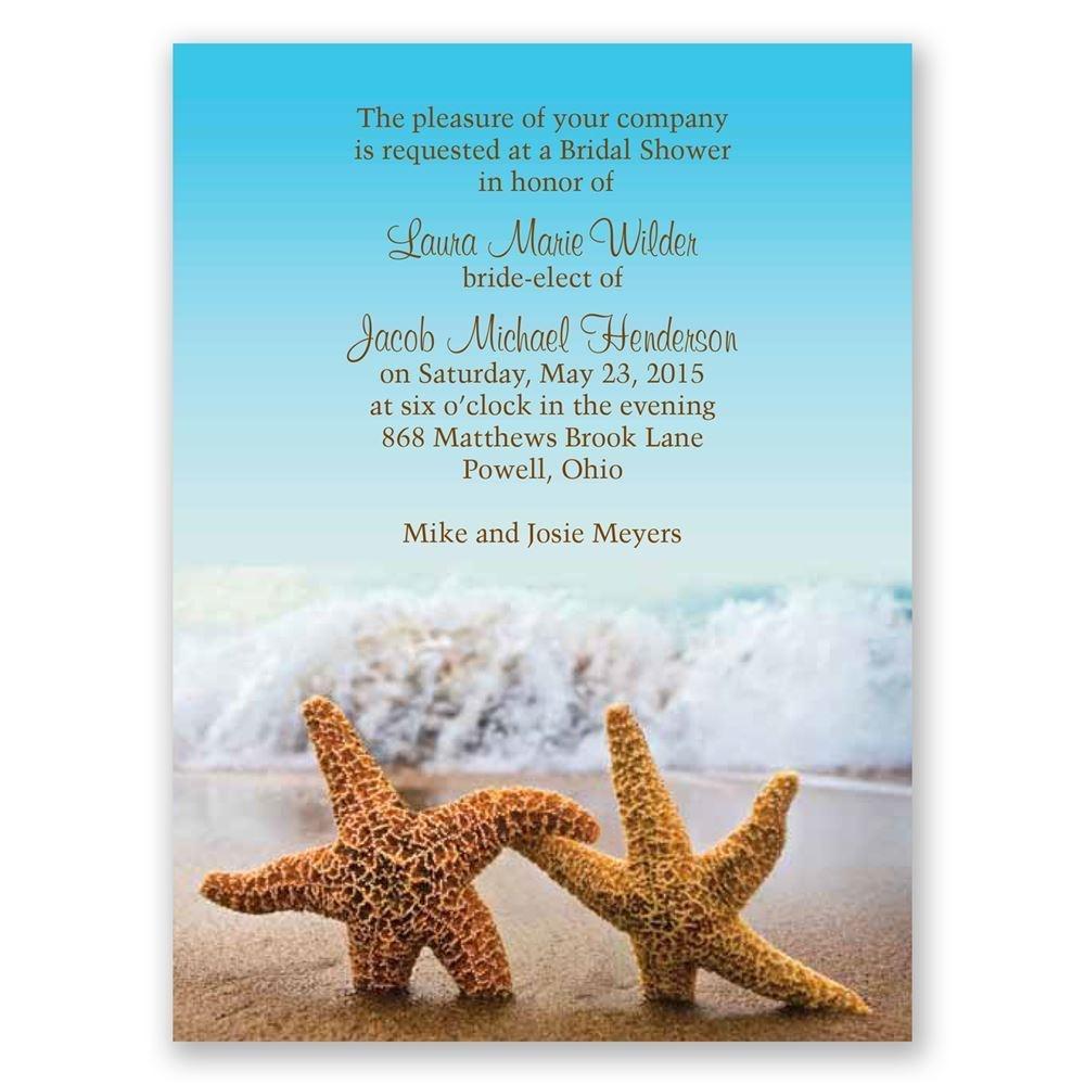 Starfish Petite Bridal Shower Invitation | Invitationsdawn - Starfish Story Printable Free