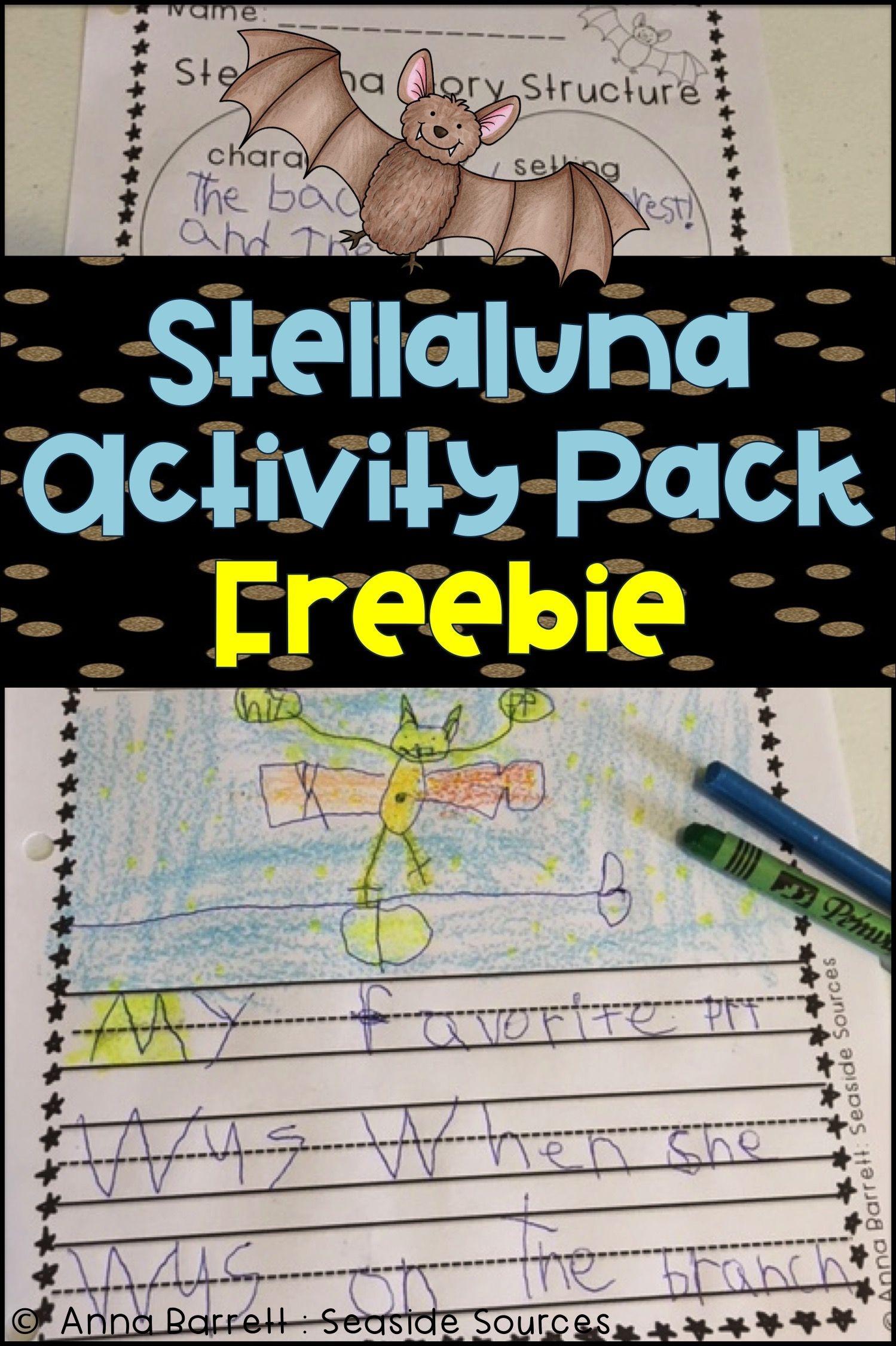Stellaluna Freebie | Educational Resources_Elementary | Stellaluna - Free Printable Bat Writing Paper