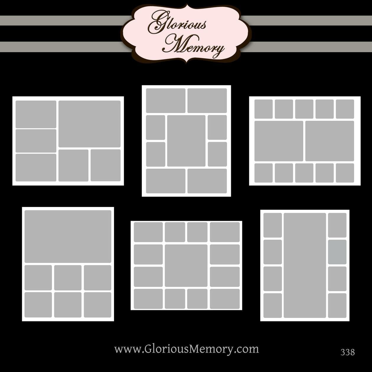 Storyboard Collage Blog Board Photoshop Psd Templates Three 16X20 - Free Printable Photo Collage Template