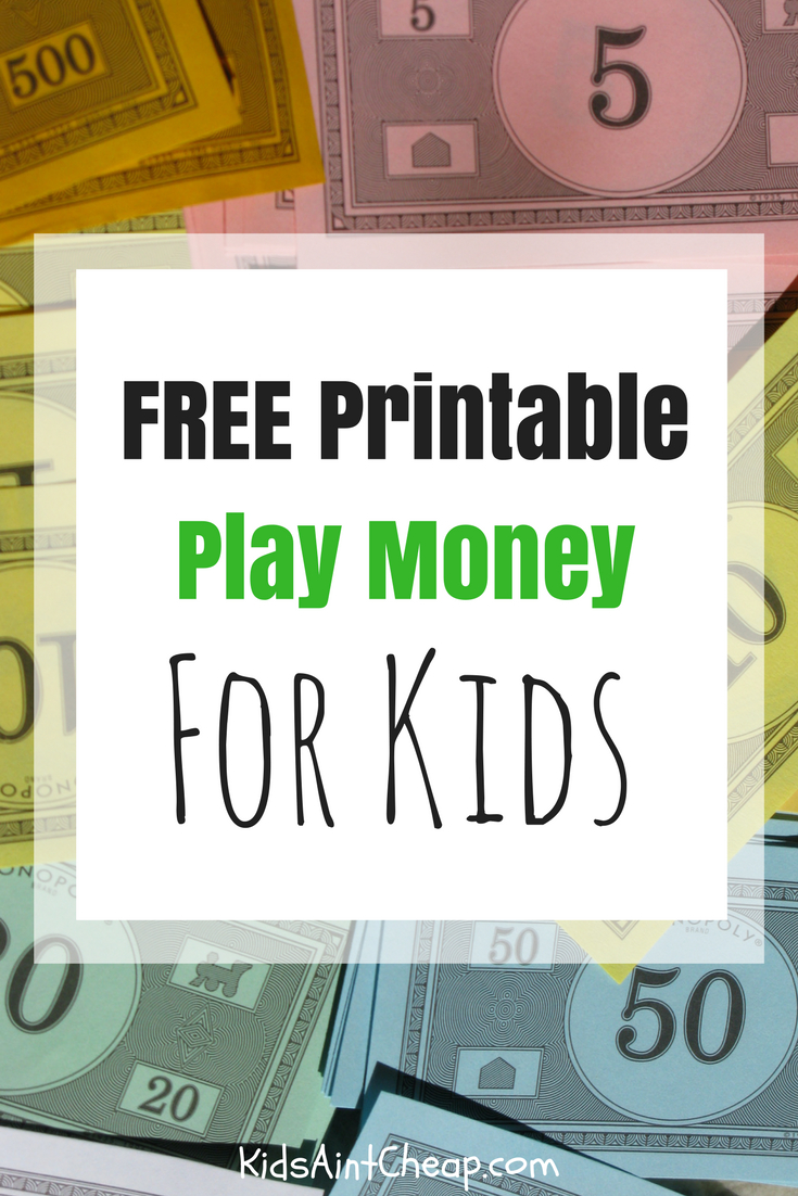 Stuff To Do Archives | Kids Ain't Cheap - Free Printable Game Money