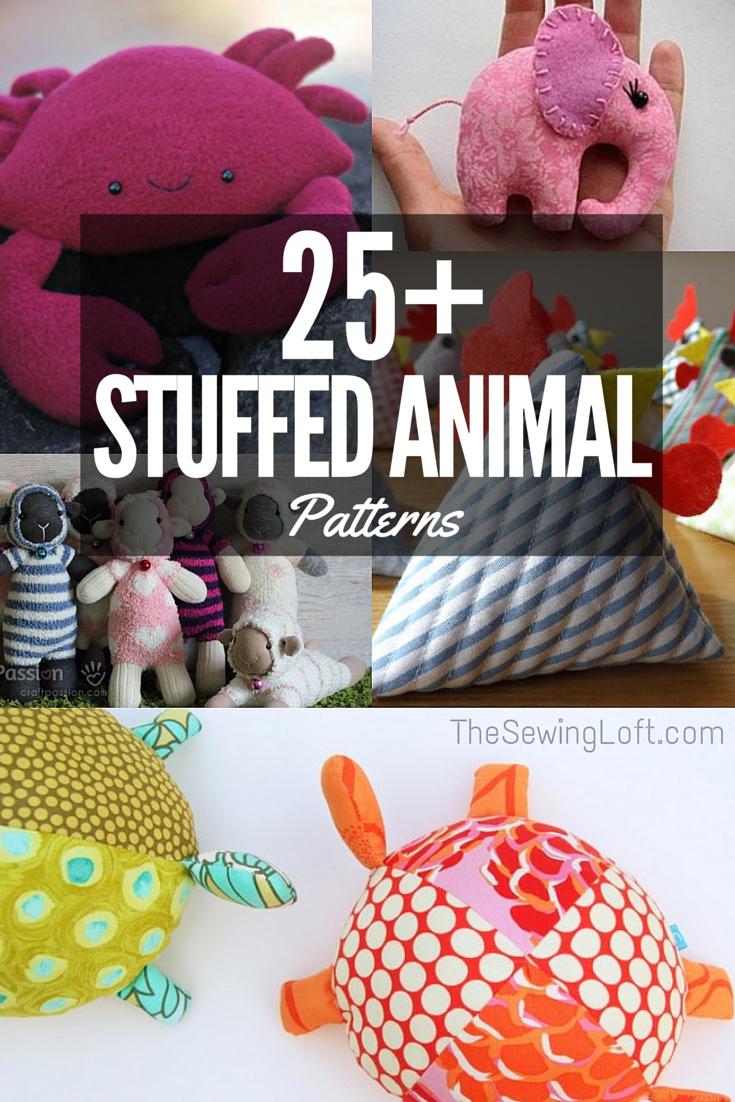 Stuffed Animal Patterns - The Sewing Loft - Free Printable Stuffed Animal Patterns