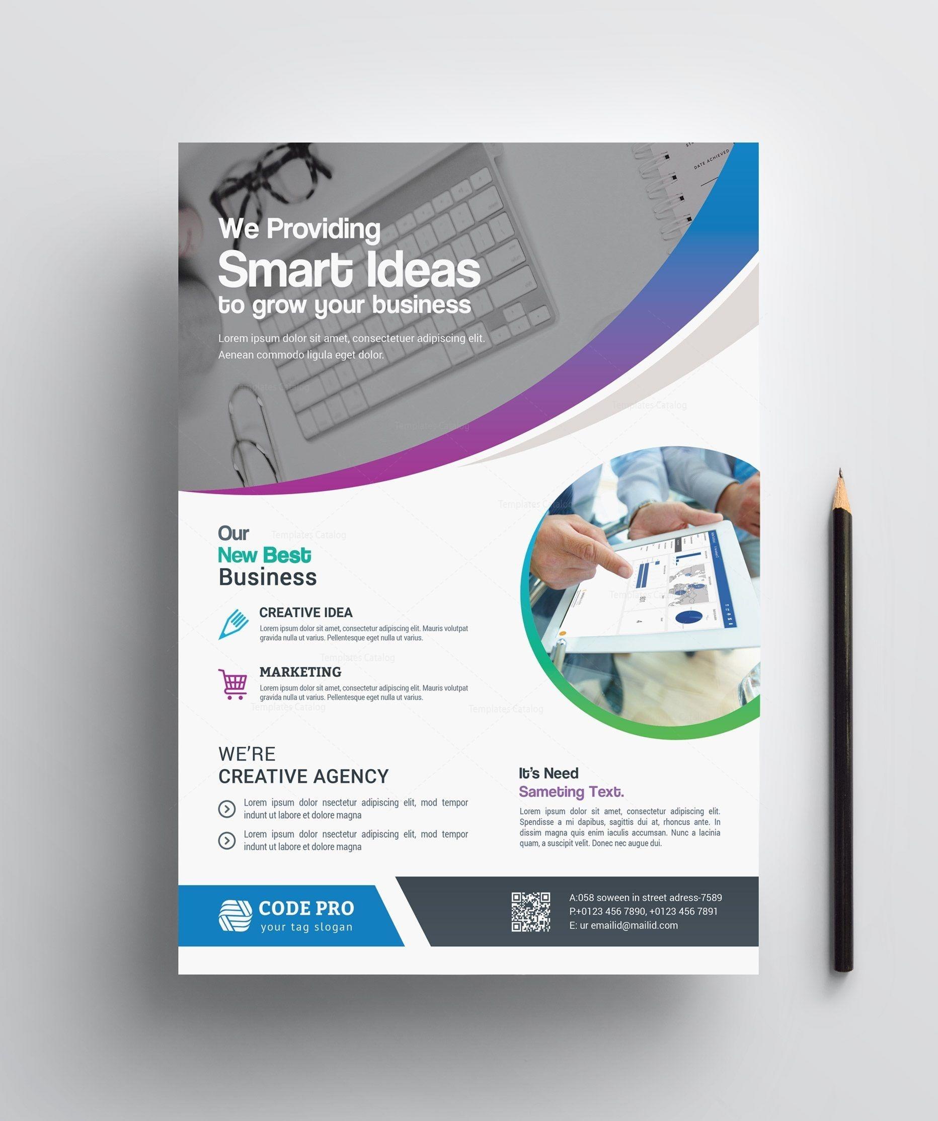 Stylish Printable Business Flyer 002412   Flyers   Corporate - Free Printable Business Flyers