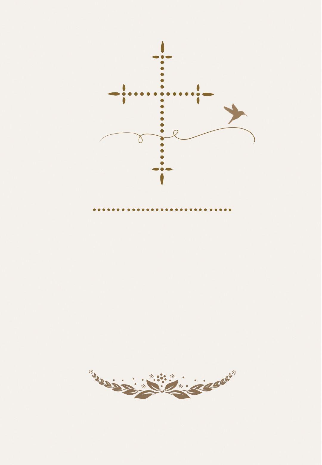 Stylized Cross - Free Communion Invitation Template | Greetings - Free Printable 1St Communion Invitations