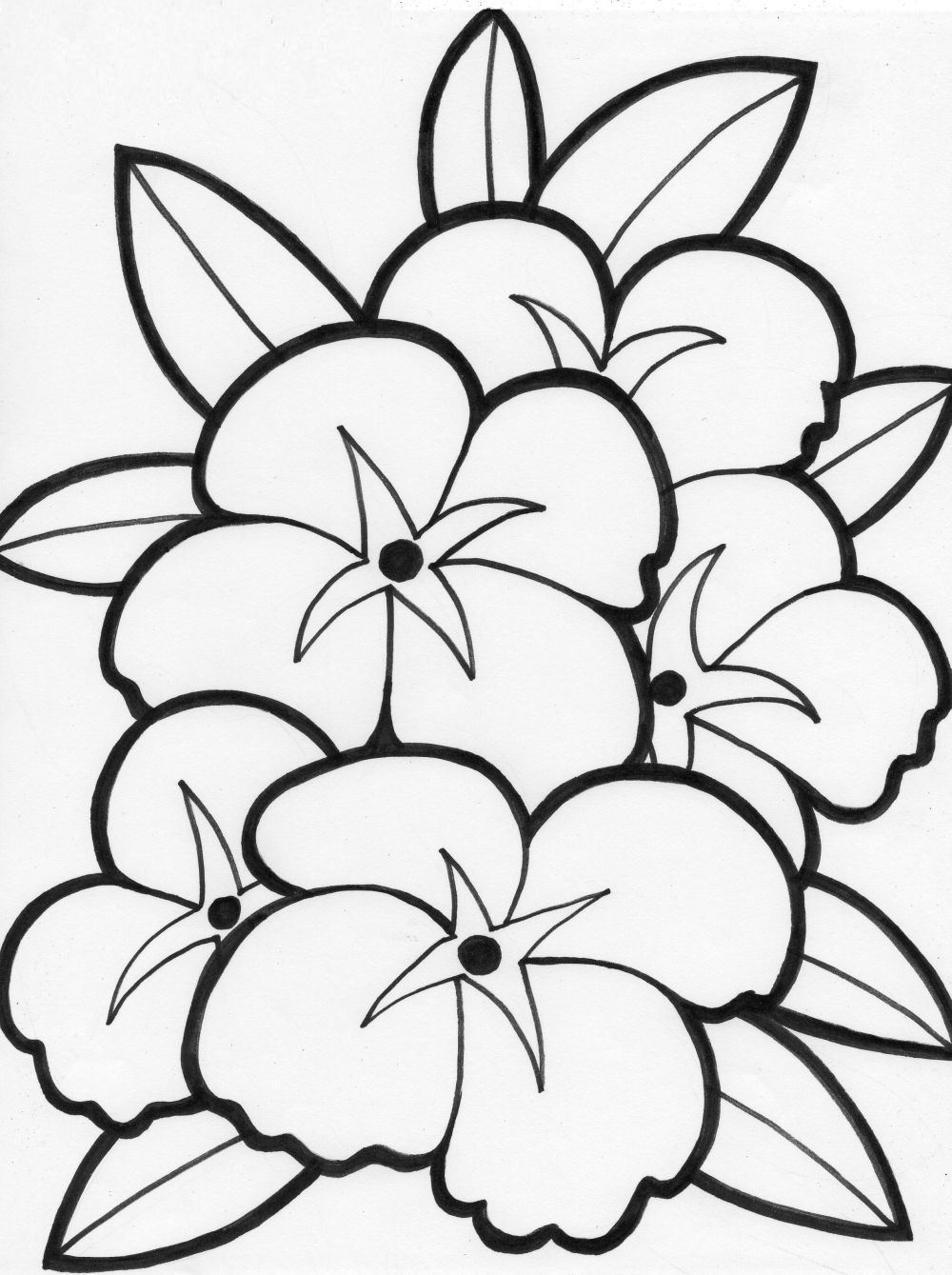 Summer Flowers Printable Coloring Pages - Free Large Images - Free Printable Flower Coloring Pages