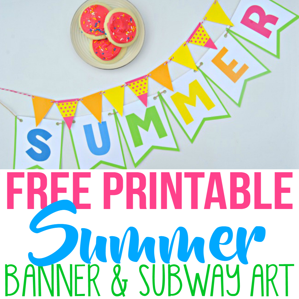Summer Party Decor With Free Printables - Simple Made Pretty - Free Printable Summer Pictures