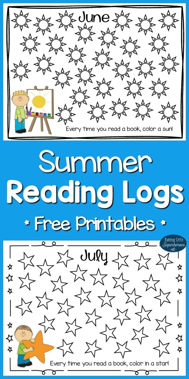 Summer Reading Logs For Kids (Free Printables) - - Free Printable Kindergarten Reading Books
