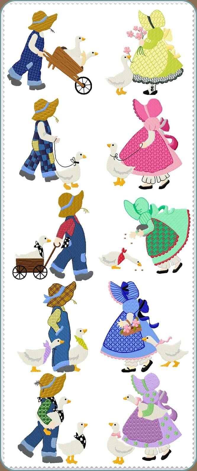 Sunbonnet Sue Printable Pattern   Sunbonnet Sue Quilt Blocks And - Free Printable Dutch Girl Quilt Pattern