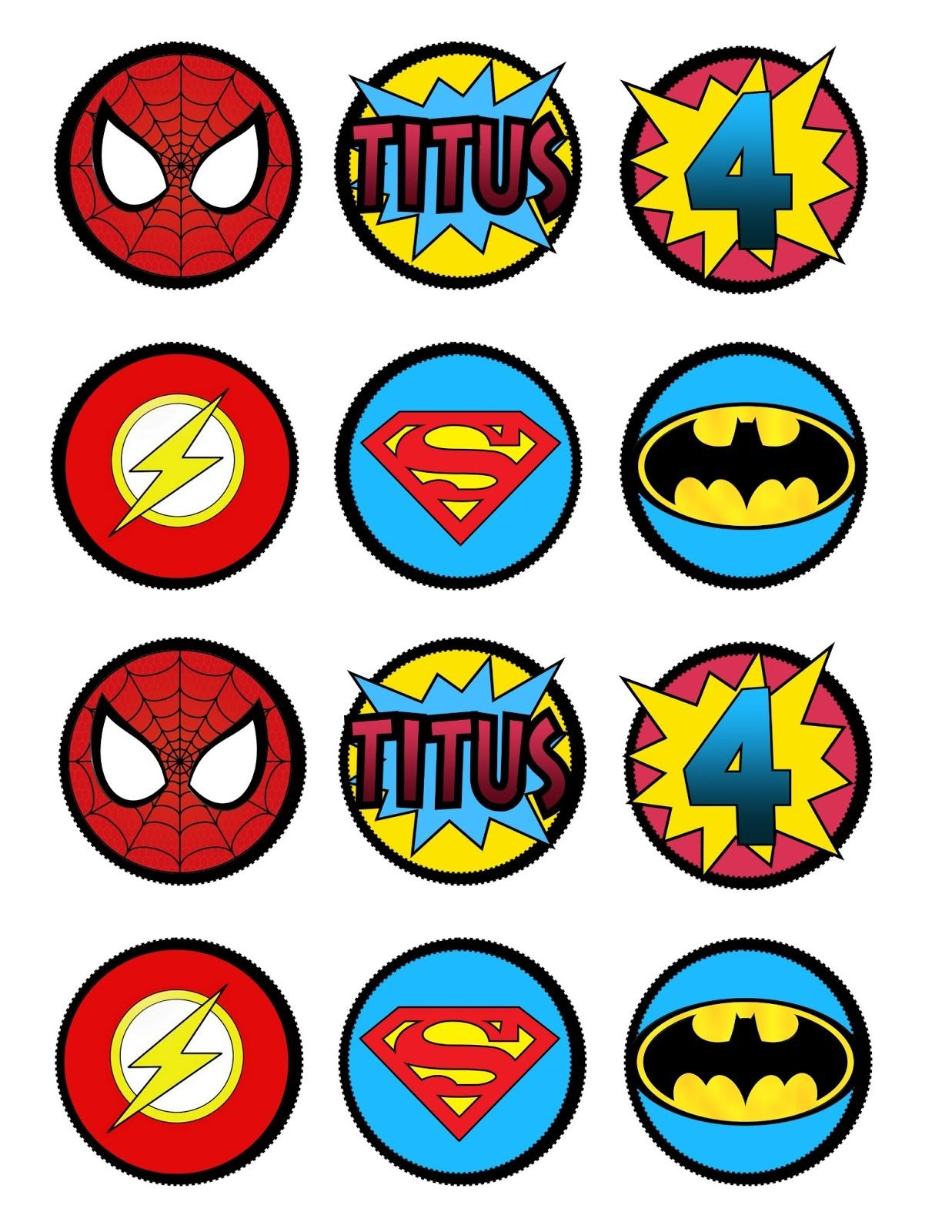 Super Hero Cupcake Toppers Or Decorationslots O' Lydia Free - Batman Cupcake Toppers Free Printable