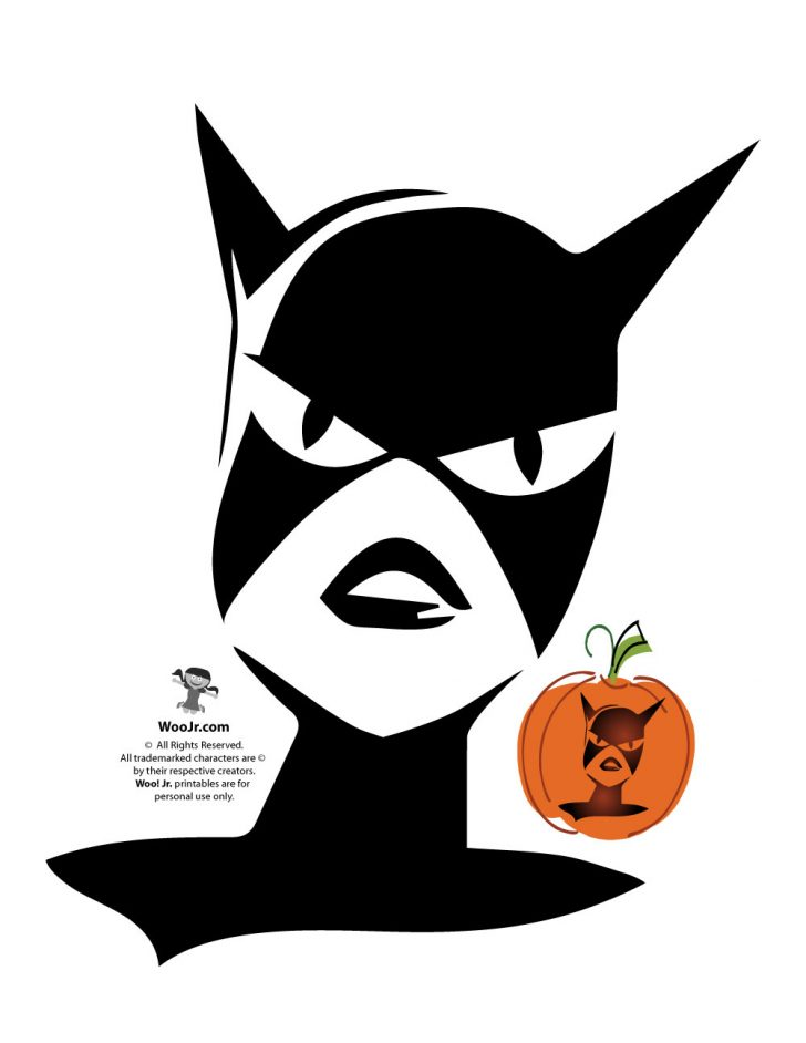 Superhero Pumpkin Stencils Free Printable