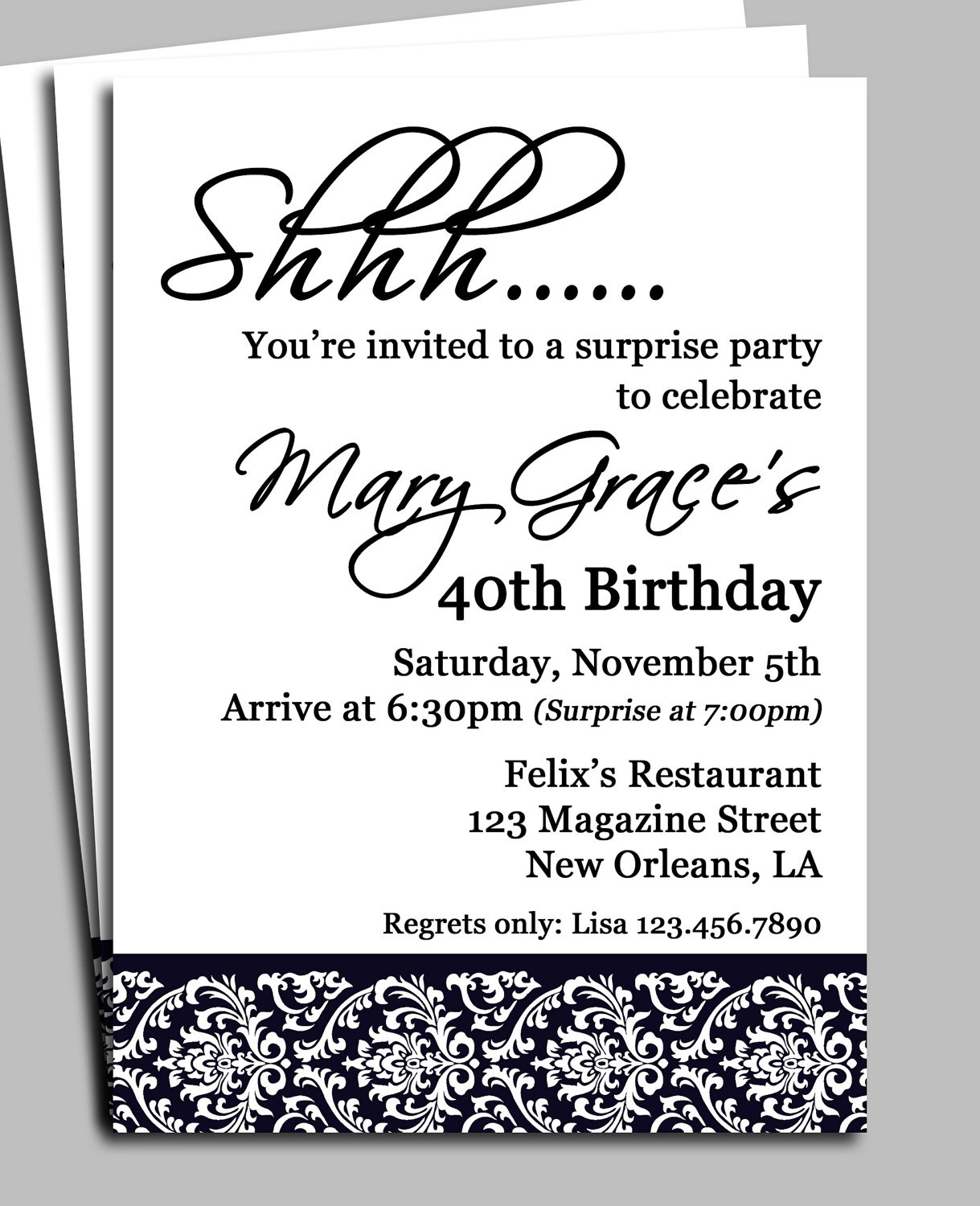 Surprise Birthday Party Invitation Wording For Adults — Birthday - Free Printable Surprise Party Invitation Templates