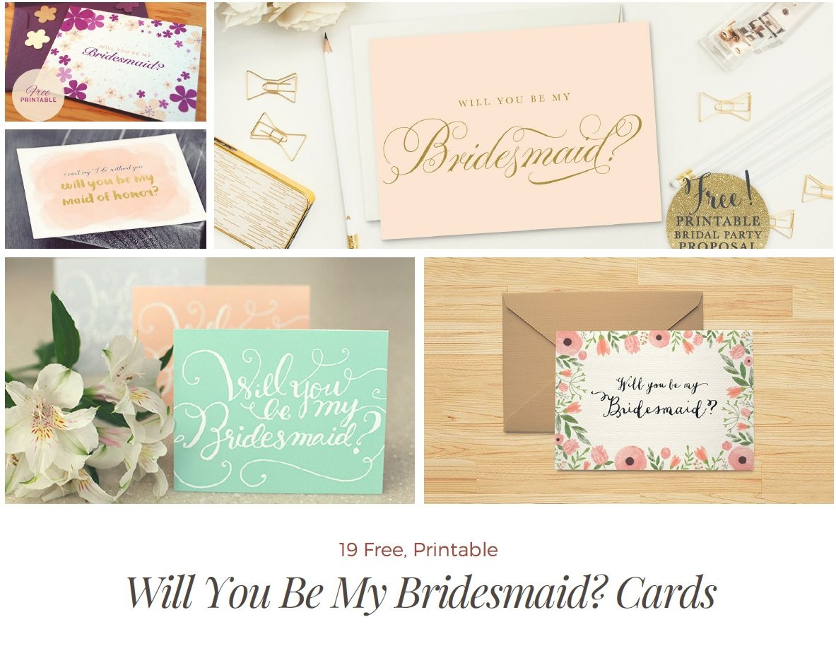Surprise Your Friends With A Free Will You Be My Bridesmaid? Cards - Free Printable Will You Be My Maid Of Honor Card