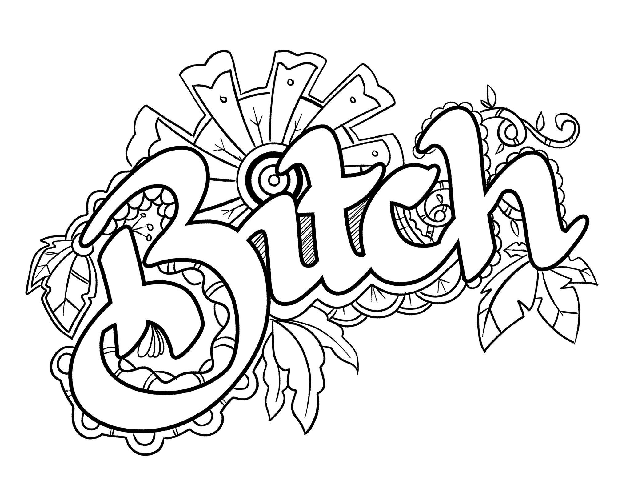 Swear Word Coloring Pages - Best Coloring Pages For Kids - Free Printable Swear Word Coloring Pages