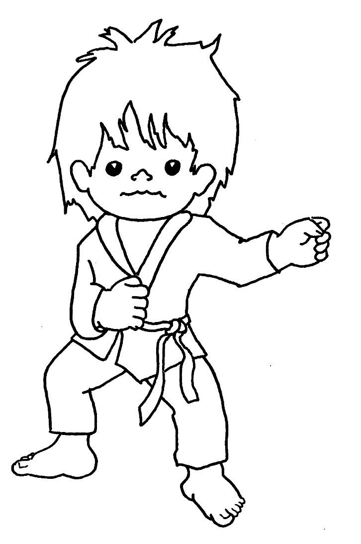 Tai Kwon Do | Tae Kwon Do Colouring Pages | Coloring | Karate Boy - Free Printable Karate Coloring Pages
