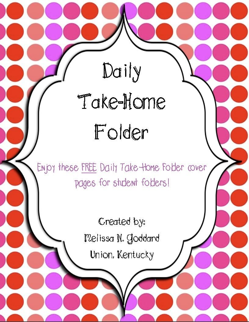 Take Home Folder Cover Pages | Kindergarten | Take Home Folders - Free Printable Take Home Folder Labels