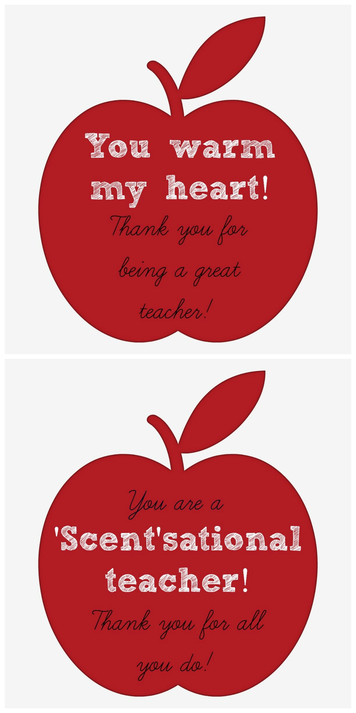 Teacher Appreciation Gift Idea: Candles & Candle Warmers (Plus A - Scentsational Teacher Free Printable