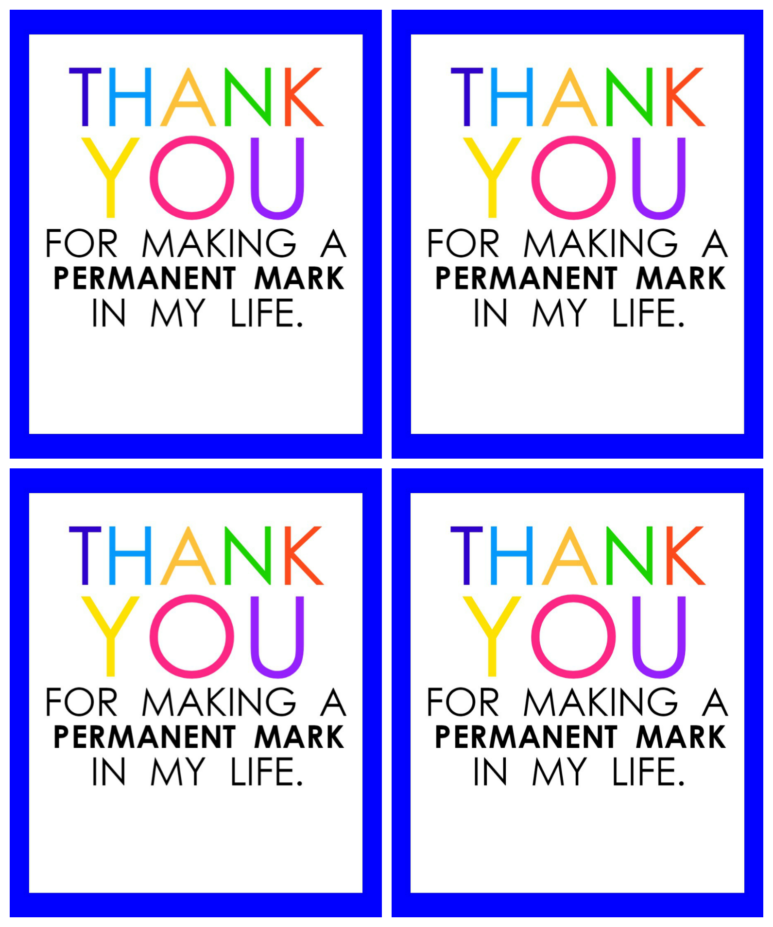 Teacher Appreciation Marker Gift Tag (Free Printable - Free Printable Name Tags For Teachers