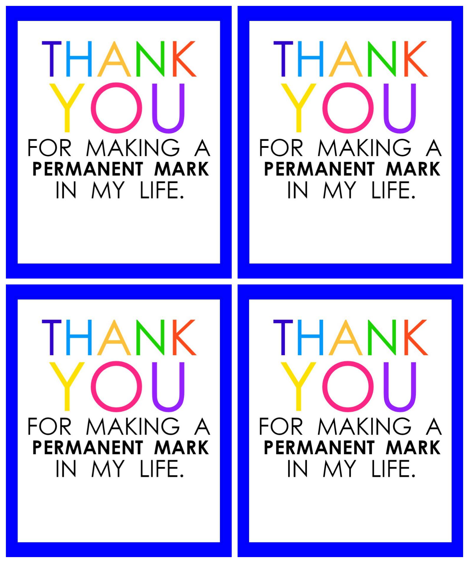 Teacher Appreciation Marker Gift Tag (Free Printable - Free Printable Tags For Teacher Appreciation