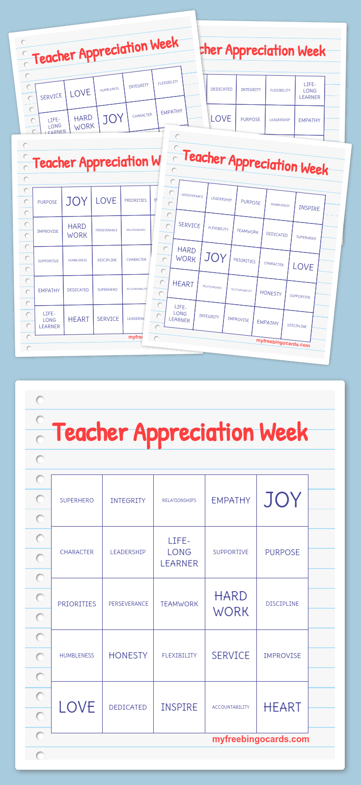 Teacher Appreciation Week Bingo | Teacher | Free Bingo Cards, Word - Free Printable Bingo Cards For Teachers