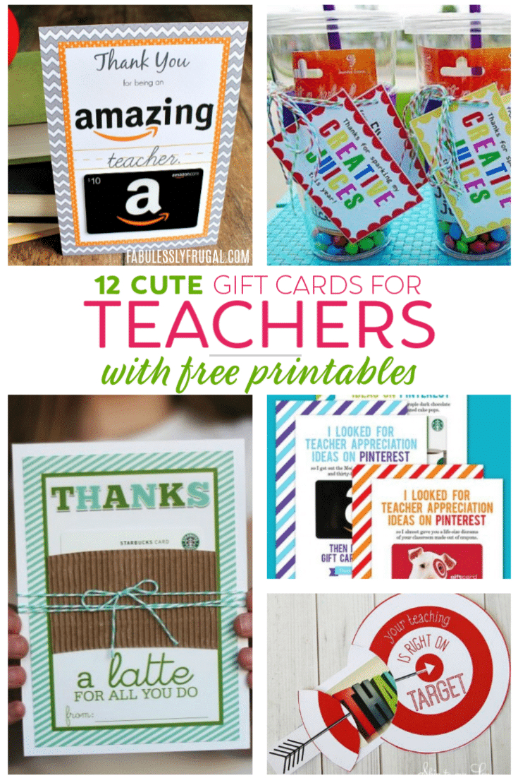 Teacher Gift Card Ideas & Gift Card Holder Printables - Fabulessly - Free Teacher Appreciation Week Printable Cards