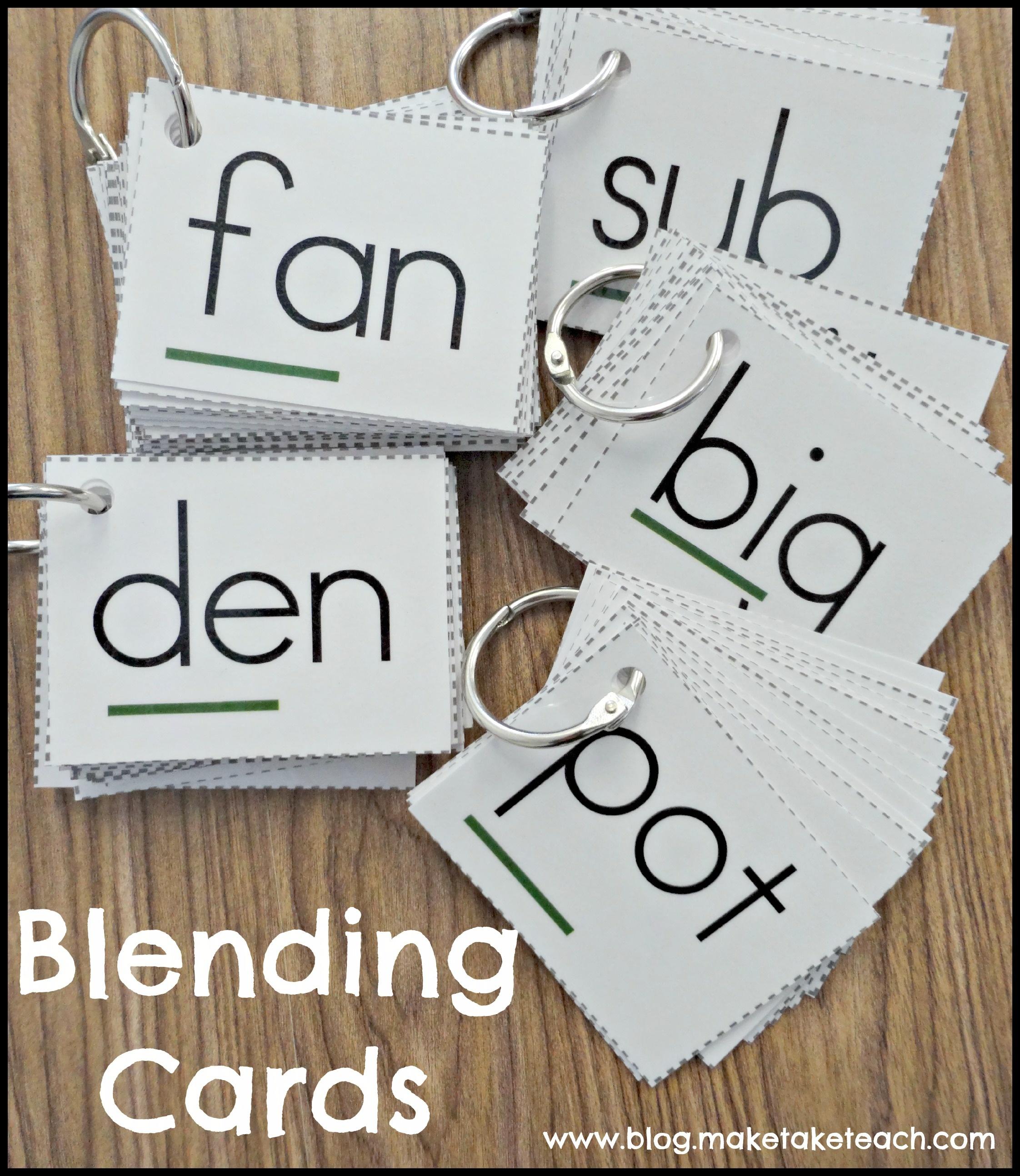 Teaching Students To Blend Words - Make Take & Teach - Free Printable Blending Cards