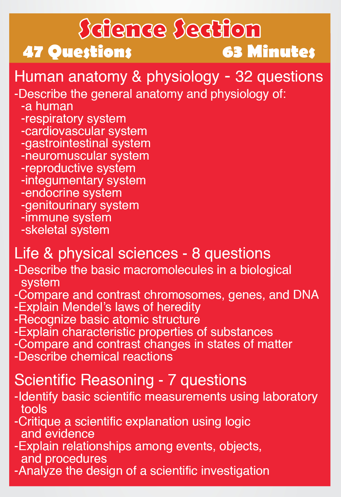 Teas Science - Content Areas Such As The Following: Human Anatomy - Free Printable Teas Practice Test