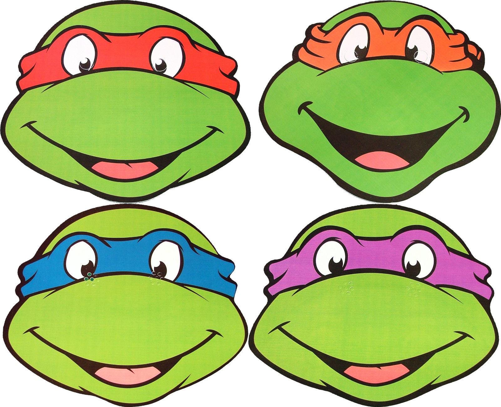 Teenage Mutant Ninja Turtles - Card Masks - 4 To Choose From - Teenage Mutant Ninja Turtles Free Printable Mask