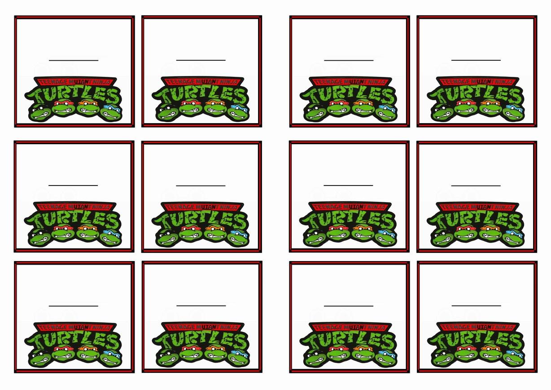 Teenage Mutant Ninja Turtles Name Tags | Birthday Printable - Free Printable Teenage Mutant Ninja Turtle Cupcake Toppers