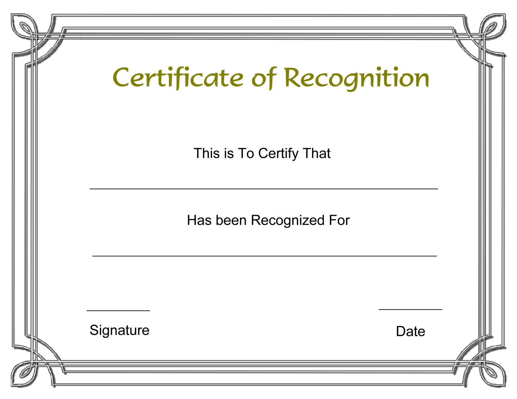 Template Free Award Certificate Templates And Employee Recognition - Free Printable Templates For Certificates Of Recognition
