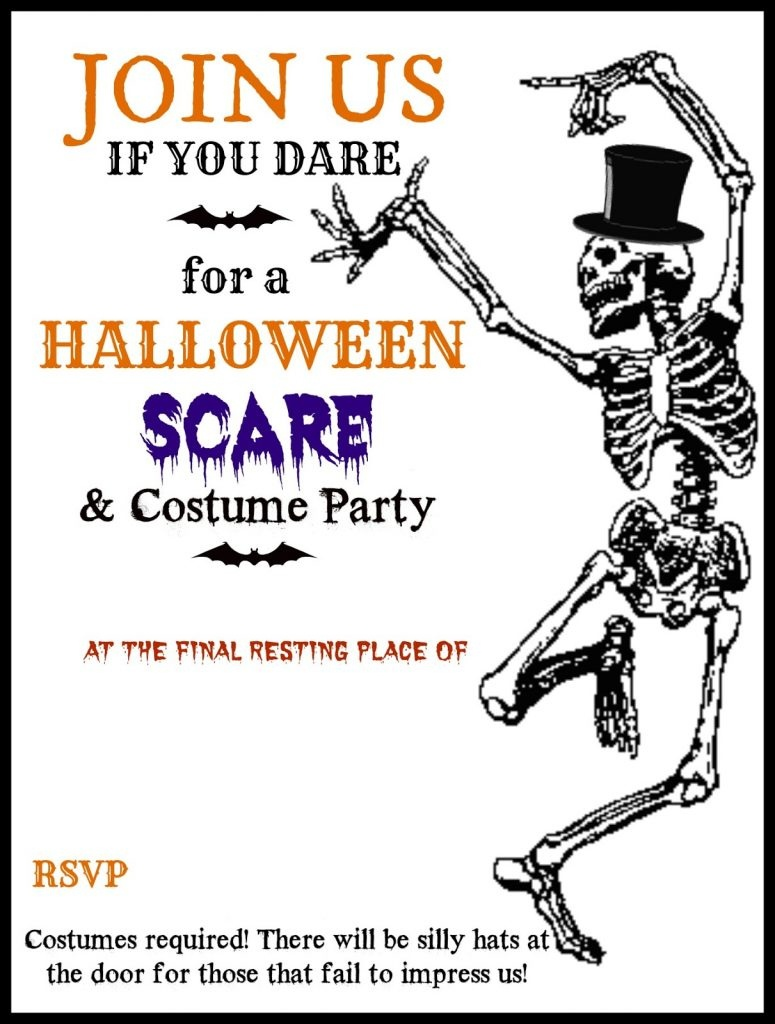 Templates ~ Baby Shower Party Ideas 2019 - Free Online Halloween Invitations Printable