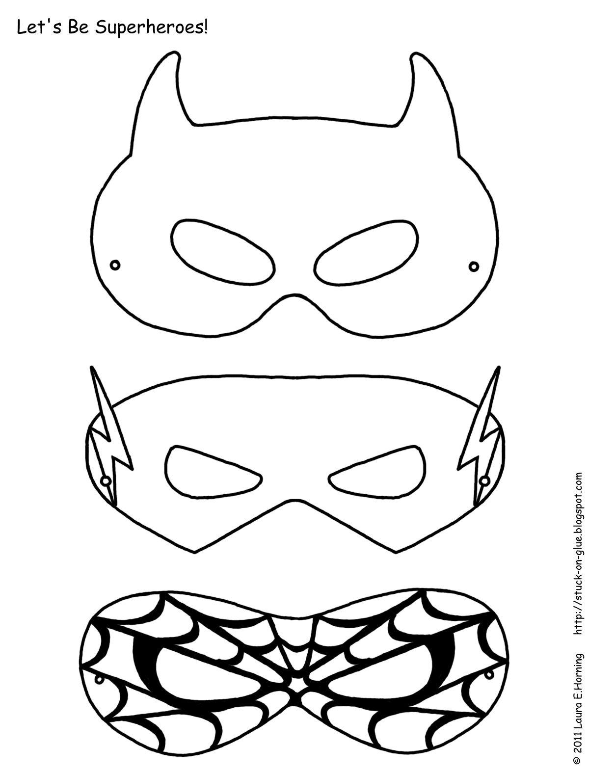 Templates For Superhero Masks - How Have We Survived? | Afterschool - Free Printable Paper Masks