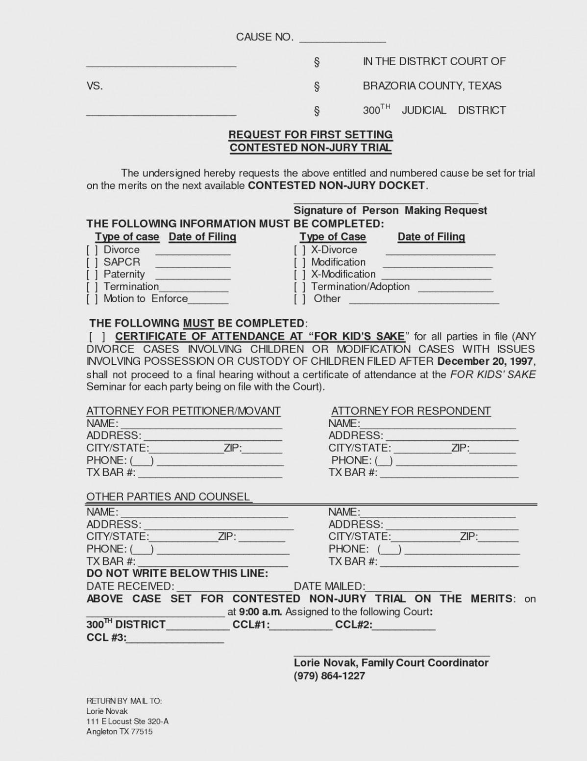 Texas Divorce Decree Template Best Of Free Printable Divorce Papers - Free Printable Divorce Forms Texas