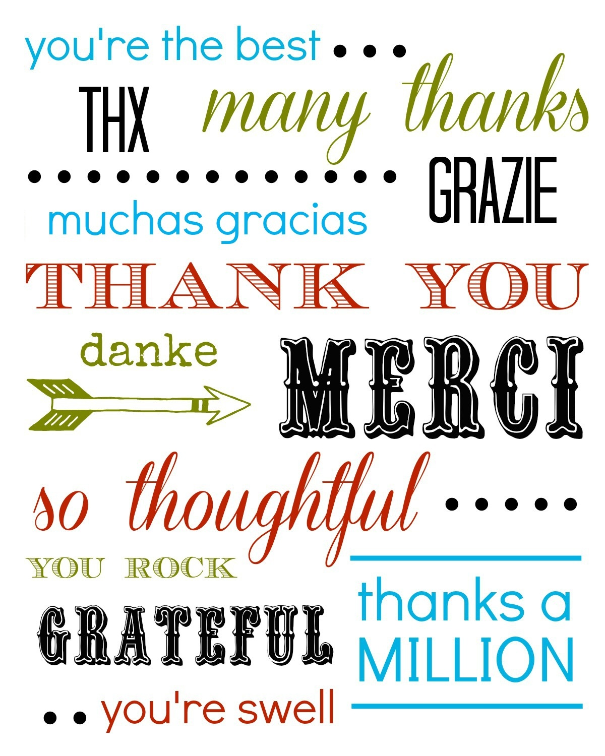 Thank You Card Free Printable - Thank You Card Free Printable Template