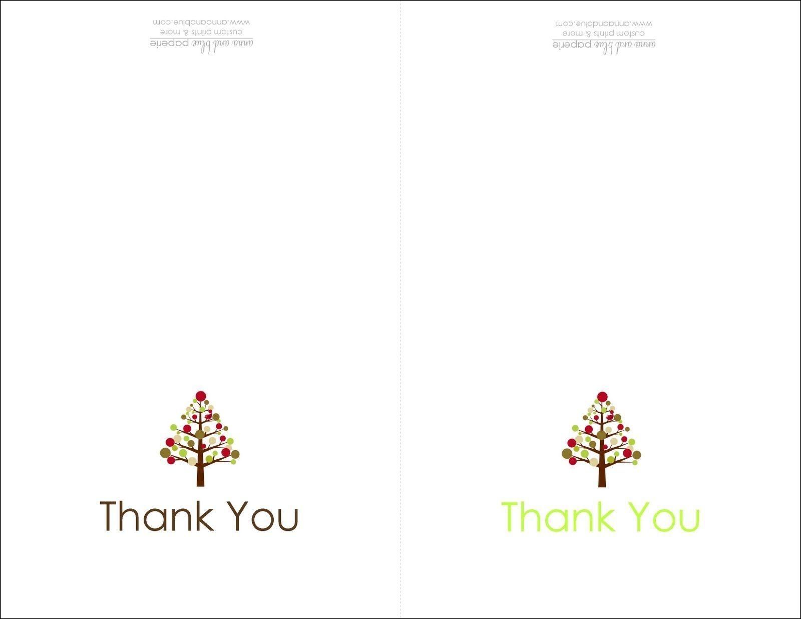 Thank You Cards Printable | Printable | Free Printable Christmas - Free Christmas Thank You Notes Printable