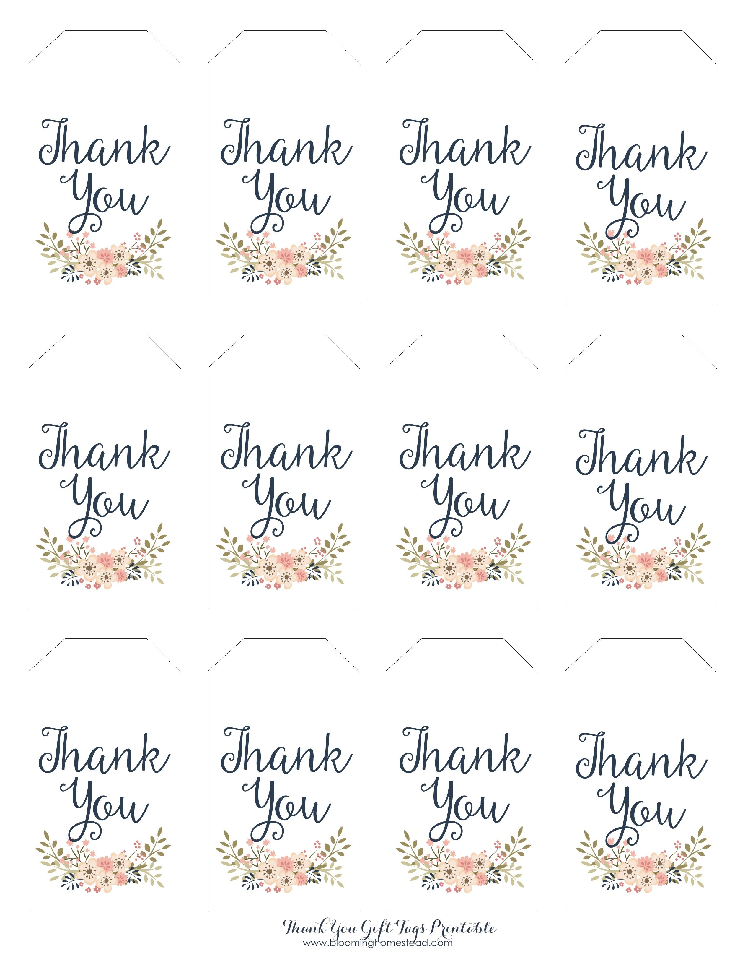 Thank You Gift Tags   Gift Ideas   Thank You Tag Printable - Free Printable Thank You Tags