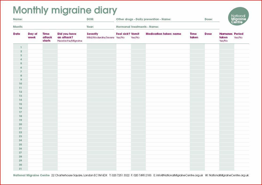 Thank You - Migraine Diary | Migraine | Headache Diary, Migraine - Free Printable Headache Diary