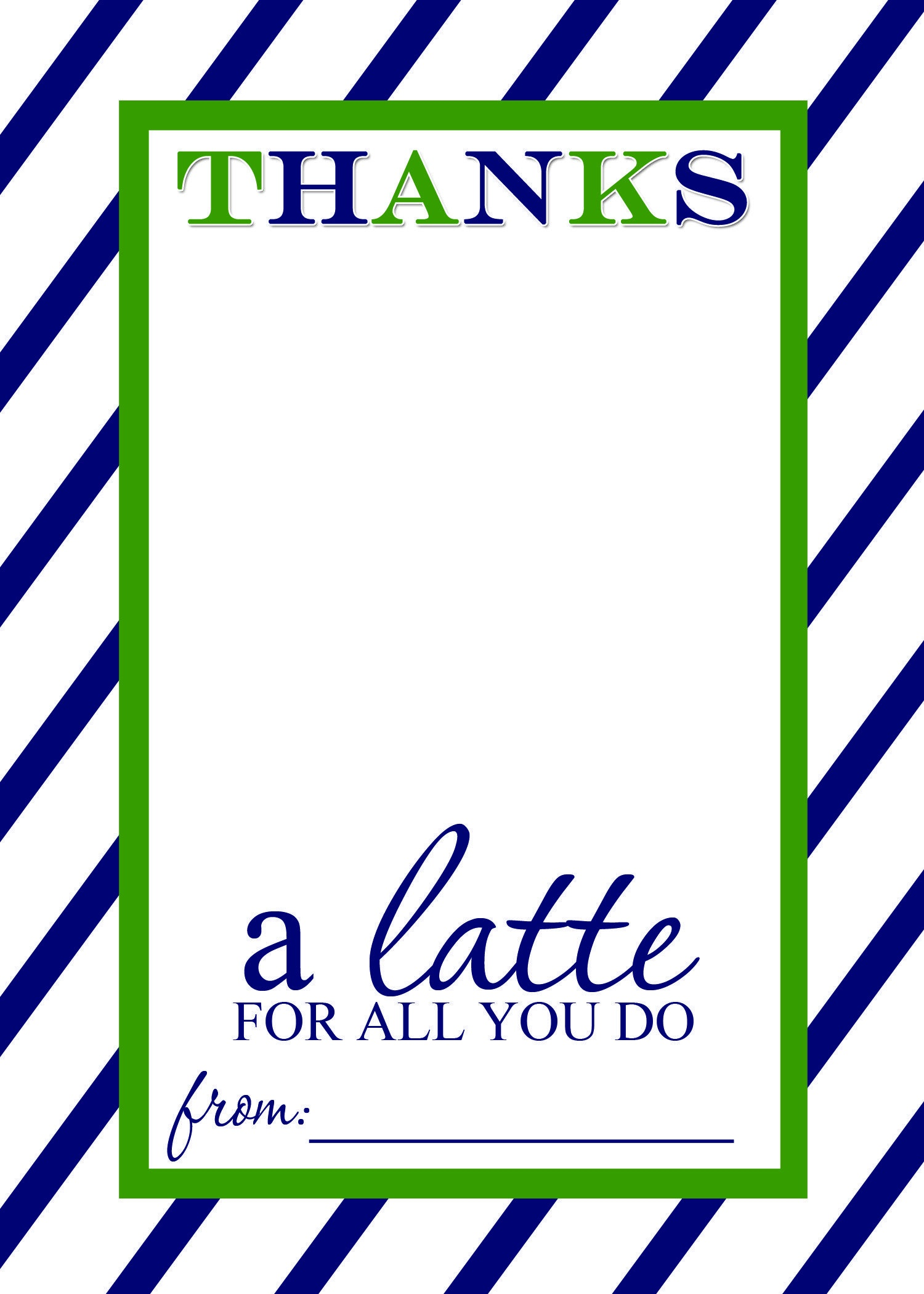 Thanks A Latte Free Printable Gift Card Holder Teacher Gift | Thank - Thanks A Latte Free Printable Card