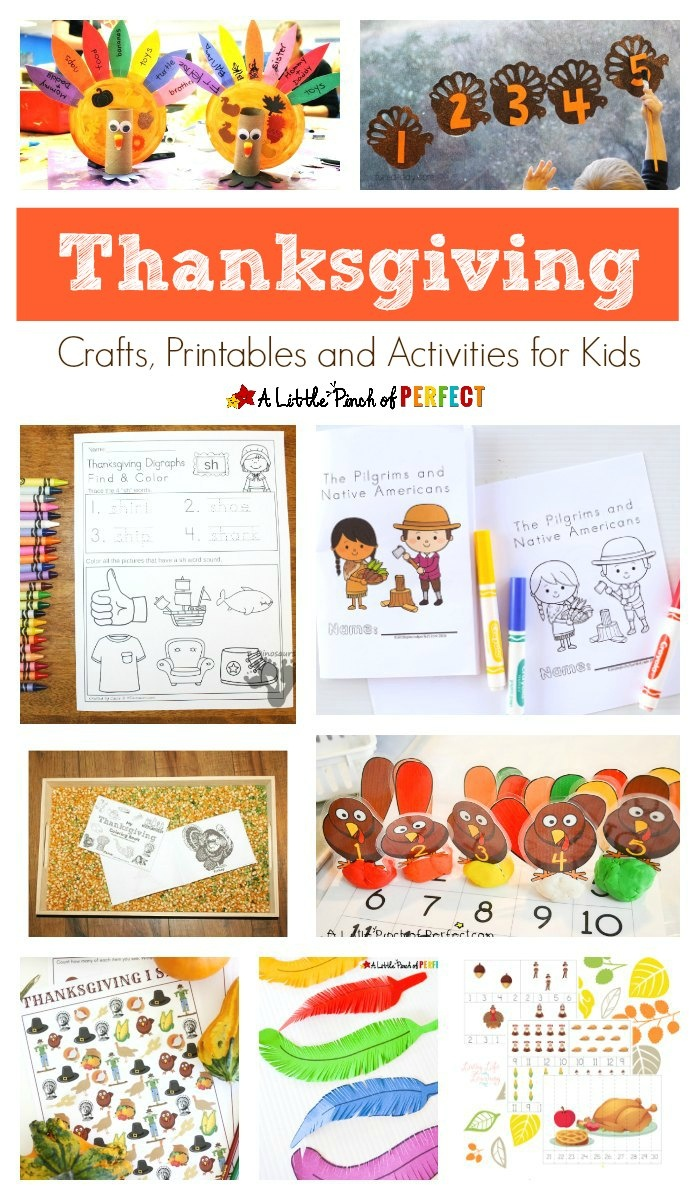 Thanksgiving Crafts, Printables And Activities For Kids - - Free Printable Thanksgiving Crafts For Kids