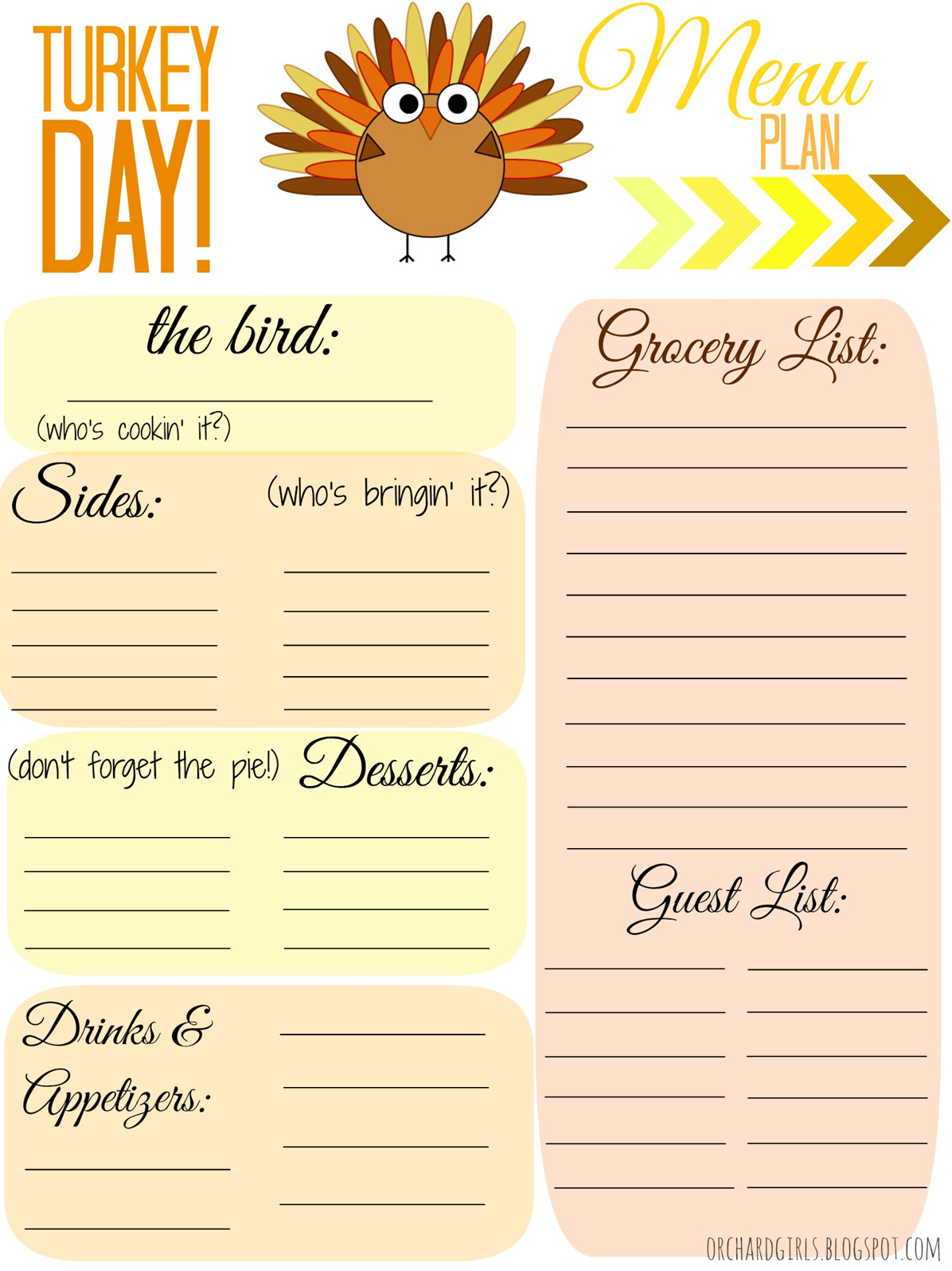 Thanksgiving Dinner List Template - Demir.iso-Consulting.co - Free Printable Thanksgiving Menu Template